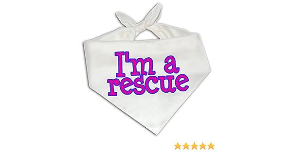 Adopt Bandana//Over the Collar Dog Bandana for Rescue Pets//Personalized Dog Bandana All Sizes Dont Shop