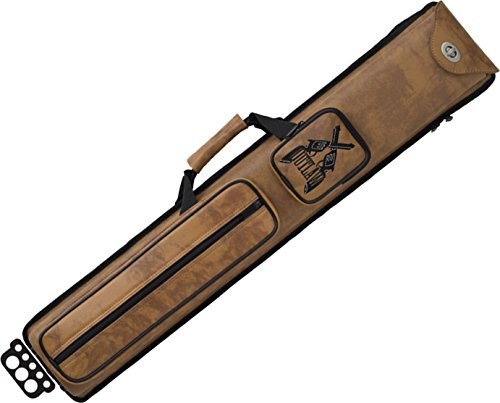 Outlaw 3-Butt and 5-Shaft Nexus Vinyl Pool Cue Case with Guns Design