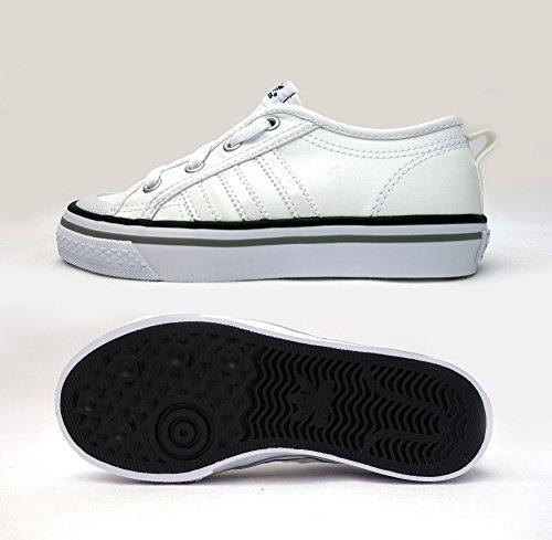 best sneakers ac944 03129 Adidas Originals - Niños - Zapatillas Bajas Nizza - Blanco Azul Marino  Oscuro Gris, 30.5  Amazon.es  Zapatos y complementos