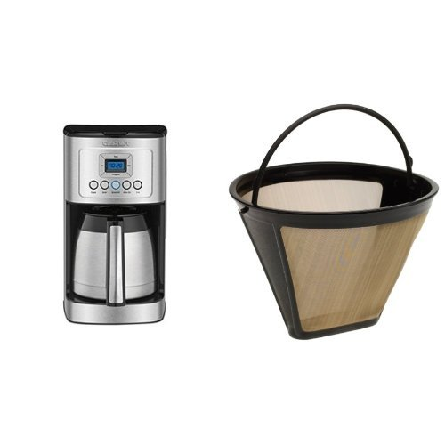 Cuisinart DCC-3400 12-Cup Programmable Thermal Coffeemaker, Stainless Steel & Cuisinart GTF Gold Tone Filter - Cuisinart Programmable Filter
