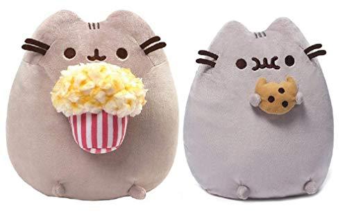 GUND Snackable Pusheen Plush Bundle of 2, Cookie and Popcorn -
