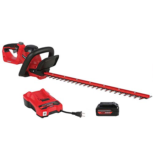 POWERWORKS XB 40V 24-Inch Cordless Hedge Trimmer, 2Ah Battery and Charger Included HTP302