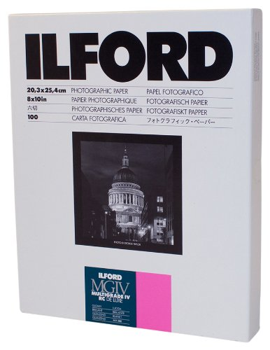 Ilford Multigrade IV RC Deluxe Resin Coated VC Paper, 8x10, 100 Pack (Glossy) - Resin Coated Paper