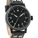 Laco Damme Black PVD Swiss Quartz Pilot Watch with Sapphire Crystal 861792