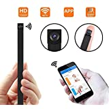 WiFi Hidden Camera Module,1080P HD DIY Mini Portable Covert IP Wireless Nanny Spy Cameras for Home/Office Security Support iOS/Android/PC