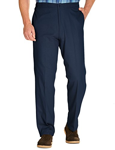 Hommes Coton Élastique Rugby Pantalon Avec Cordon De Serrage Bleu 91cm x 74cm