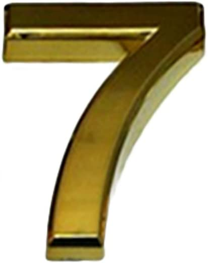 House Hotel Number Pack of 2PCS with Self-Adhesive Backing-Gold-5 Aspire 4 H Door Address Sign Digit 0-9