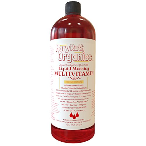 ORGANIC LIQUID MORNING MULTIVITAMIN by MARYRUTH (Raspberry) Highest - Women Organic Vitamins