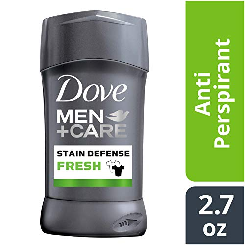 Dove Men+Care Stain Defense Antiperspirant Deodorant Stick, Fresh, 2.7 oz (Best Men's Deodorant No Stain)
