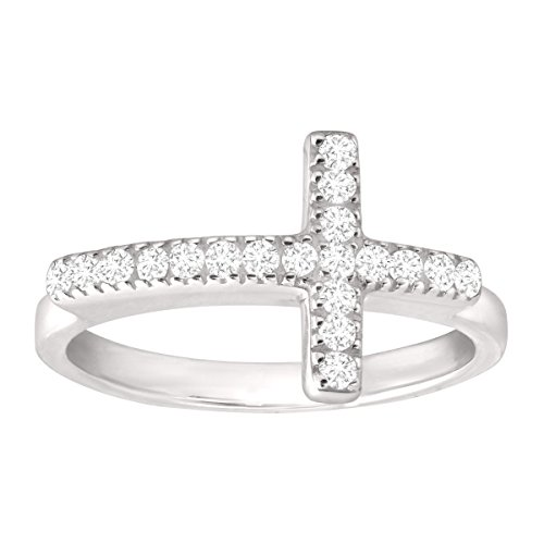 Silpada 'Reverence' Sterling Silver and Cubic Zirconia Ring, Size 9 ()