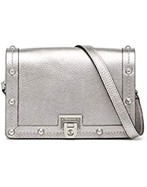 Madison Leather Crossbody Bag - Anthracite