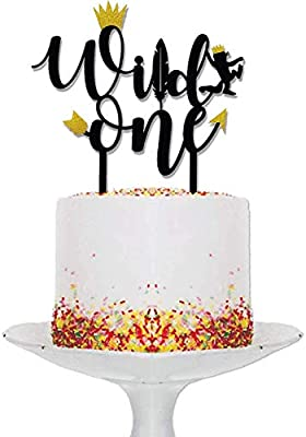 Magnificent Wild One Birthday Decorations Wild One Cake Topper Black And Funny Birthday Cards Online Aboleapandamsfinfo