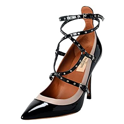 d49c75363b7b Valentino Garavani Women s Leather Black Ankle Strap Pumps Shoes US 8 IT ...
