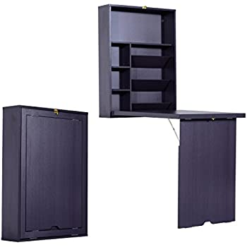Amazon Com Tangkula Wall Mounted Table Fold Out Space