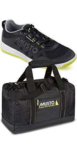 Musto Dynamic Pro Lite Sailing Yachting and Dinghy Shoes & Essential Small Holdall Carry on Bag or Luggage Black