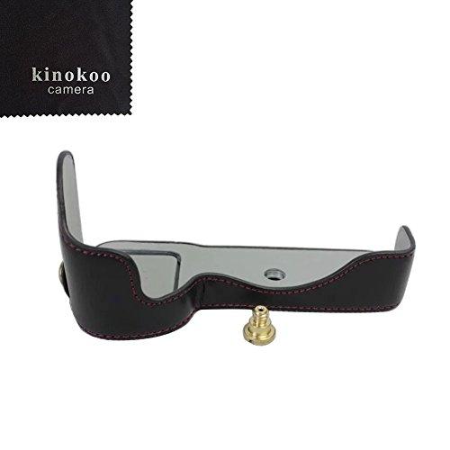 kinokoo SONY 소니 A9 / A7R III (A7R3) / A7Ⅲ전용 카메라 케이스 ILCE-9 / A7R3 바디 케이스 배터리의 교환 성과 삼각 나사혈 부착 표식 크로스 부착 (블랙)