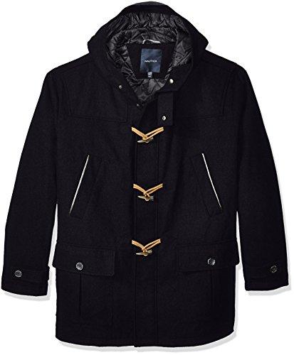 Nautica Men's Big and Tall Wool Toggle Coat, Dark Navy, Lt by Nautica