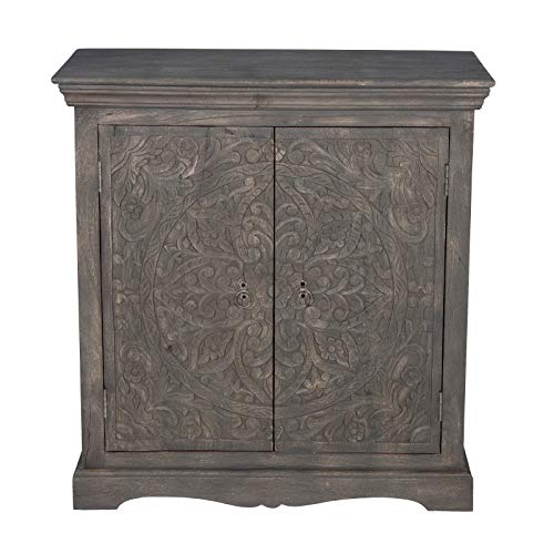 Maadze Solid Wood Carved Cabinet