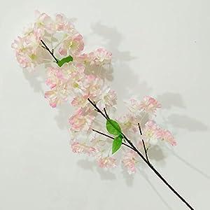 LBZEZR Artificial Fake 3 Fork Bouquet Begonia Flower Cherry Rattan Arrangements Bridal Home DIY Deco 45