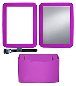 Inkology Color Rush Silicone 3 Piece Magnetic Locker Accessory Set, Purple Passion (572-8)