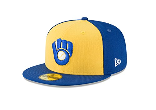 New Era 59Fifty Hat Milwaukee Brewers Cooperstown 1978 Wool Fitted Headwear Cap (7 3/4) ()