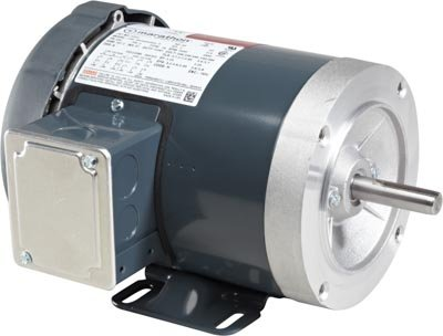 Marathon D393 56C Frame 56T34F5303 TEFC General Purpose Motor, 3 Phase, C-Face with Base, Ball Bearing, 1 hp, 3600 rpm, 1 Speed, 208-230/460 VAC
