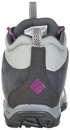 Columbia Women's Fire Venture Mid Textile Hiking Boot, Earl Grey, Dark Raspberry, 11 Regular US by Columbia (Image #2)