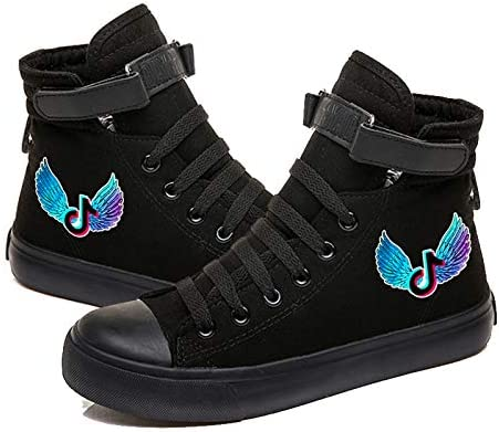 DXJJ TIK Tok Velcro Shoes Canvas Shoes