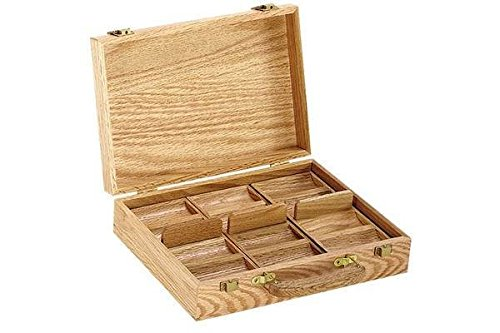 StealStreet 7014 300 Piece Wooden Oak Poker Chip Case with 3 Removable Chip Trays