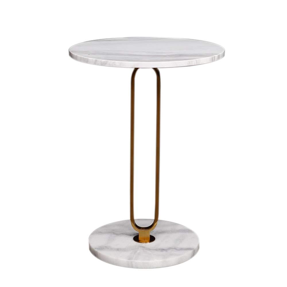 XIAODONG ファッションモダン 円形 ソファサイドテーブル 天然大理石 コーヒーテーブル エンドテーブル アクセントテーブル ベッドサイドテーブル、15.7''x21.6'' Storage design enables the 簡単に移動する B07QBBZVLK