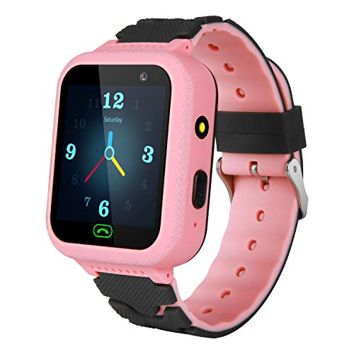 Kids Waterproof Smartwatch Phone - Smart Watch with Games GPS/LBS Tracker SOS Call Camera Alarm Flashlight Voice Electronic Watch Toys 3-14 Years Old Students Kids Boys Girls Birthday Gifts (Pink) ... (Best Phone For 14 Year Old)