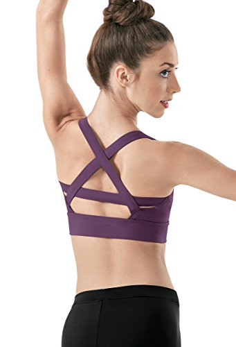Balera Bra Top Girls Strappy Sports Bra For Dance Womens Camisole With Cross Straps High Support (Midriff Dance)