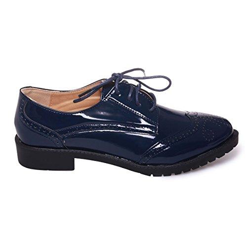 mujer de Zapatos Azul Modeuse La cordones para qH8B6EOw