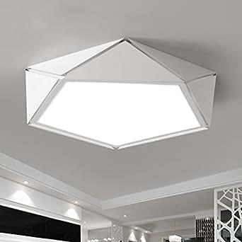 Renshengyizhan@ Blanco/negro lámpara de luces de araña de ...
