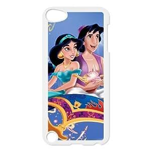 Disneys Aladdin and Jasmine Image On The iPod 5 White Cell Phone Case AMW897289