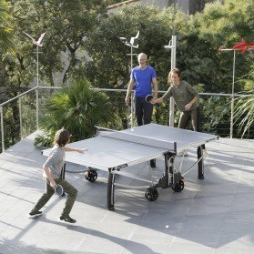 Cornilleau 500M Crossover Indoor/Outdoor Blue Table Tennis Table by Cornilleau