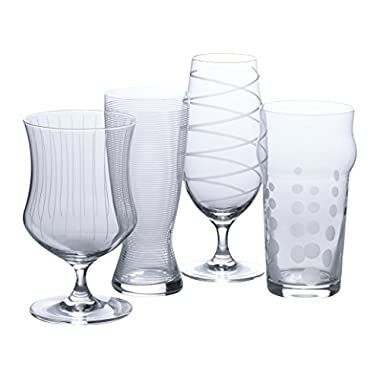 Mikasa Cheers Set of 4 Assorted Craft Beer Glasses