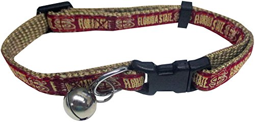 Pets First Collegiate Pet Accessories, Cat Collar, Florida State Seminoles, One Size