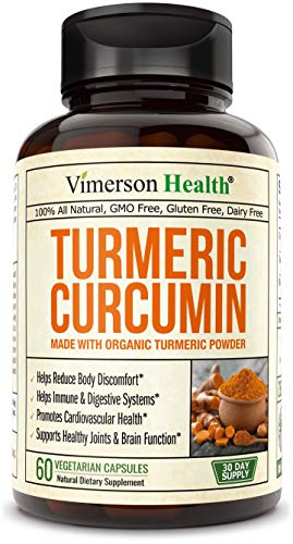 Turmeric Curcumin Supplement. 10 milligrams of Bioperine. Made from Organic Turmeric. Healthy Inflammatory Response. Anti-Oxidant Properties. Black Pepper for Better Absorption. Occasional Pain Relief