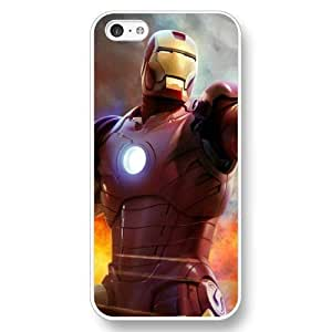 MMZ DIY PHONE CASEUniqueBox Customized Marvel Series Case for ipod touch 5, Marvel Comic Hero Ironman ipod touch 5 Case, Only Fit for Apple ipod touch 5 (White Hard Case)
