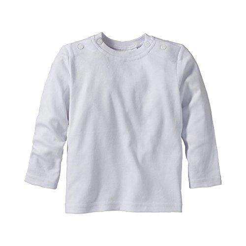 BORNINO Shirt langarm Baby-Top Babykleidung, Größe 62/68, weiß