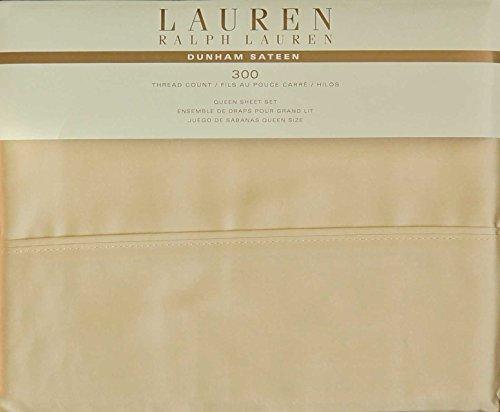 Lauren Ralph Lauren Bedding 4pc QUEEN Sheet Set Dunham Sateen Yellow -- Italian Straw - Ralph Lauren Straw