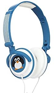 My Doodles by KitSound Fun Novelty Child Friendly Character 85Db Volume Limiting On-Ear Headphones Compatible with Smartphones, Tablets and MP3 Devices - Penguin by My Doodles