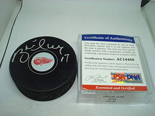 Brett Hull Autographed Signed Memorabilia Detroit Red Wings Hockey Puck - PSA/DNA Authentic