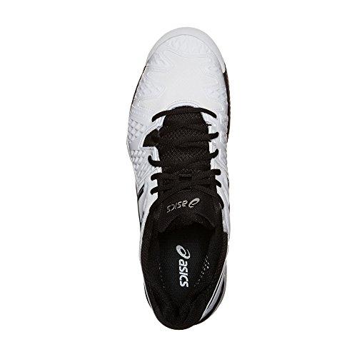 Asics juego de Gel 5 Gs Unisex niño Zapatillas de tenis blanco/negro/Plateado