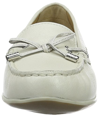 Geox D Yuki A Mocassini Donna Bianco off White white