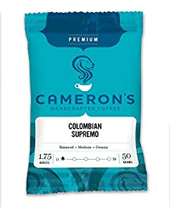 Cameron's Ground Coffee, Colombian Supremo, 1.75 Ounce (Pack of 24)