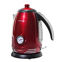 Nostalgia Electrics RWK150 Retro Series '50s Style Electric Water Kettle, Retro Red