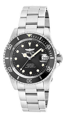 Invicta Men's 17044 Pro Diver Analog Display Japanese Automatic Silver - Diver Coin Edge Invicta