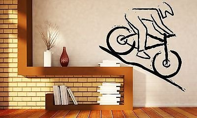 (Wall Vinyl Sticker Decal Mountain Bike Racer Rugged Terrain Competition n270)